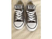 Ladies Grey converse size 6