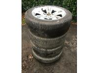 Alloys tyres 225 50 17 inch bmw snow tyres Michelin cross climate tyres winter tyres
