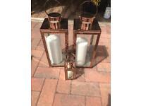 Wedding decor - copper lanterns