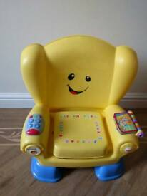 Fisher price yellow laugh and learn musical chair