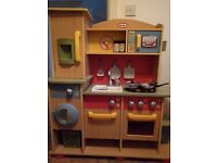 Little Tikes toy wooden kitchen