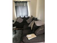 Right hand corner sofa and scatter cushions