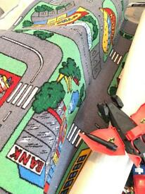 Cars, planes and play mat
