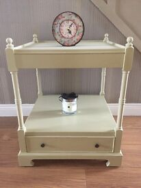 HAND PAINTED SIDE TABLE *REDUCED PRICE*