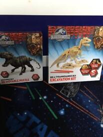 Jurassic world dinosaur kits