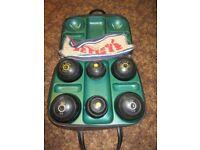 Crown Green Bowls-4+2 Jacks in case - All 2lb-10oz Std