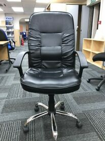 Executive Leather Faced Chair, With Arms. 1 In Stock.