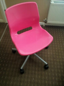 pink childs swivel chair
