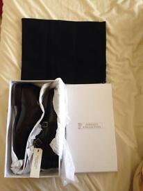 Versace collection double monk strap dark brown shoes RRP £330 size 9