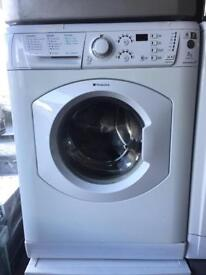 Hotpoint Aquarius white good looking 7kg 1400spin washing machine cheap