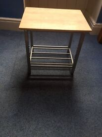 WOODEN SQUARE SMALL TABLE