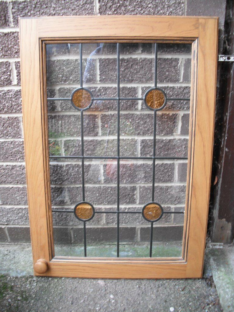 Kitchen Wall Cabinet With Glass Doors And Shelves In Matlock