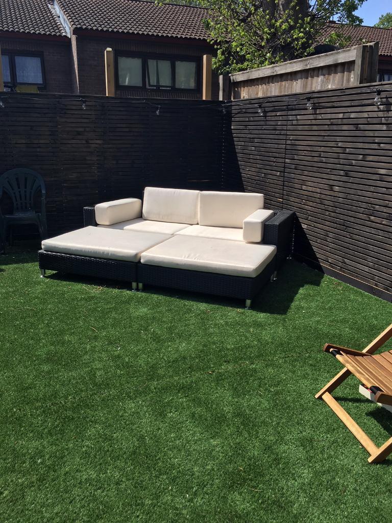 Garden Furniture Gumtree rattan garden furniture set - day bed/sun lounger/sofa/tables | in