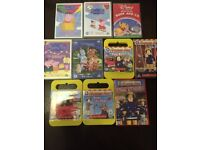 a bundle of about 18 childrens DVD's