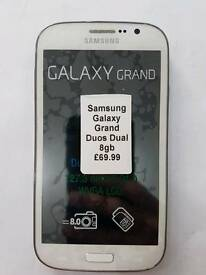 Unlocked Samsung Galaxy Grand Duos(Dual Sim) 8gb All Colours Available Fully Boxed Up