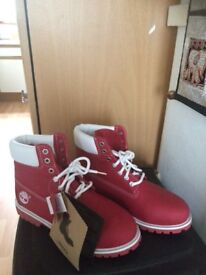 Genuine timberland red boots
