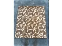 Roman Blind Brown and cream leaf pattern (120cm Long, 100cm Wide)