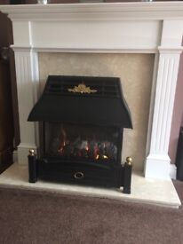 Valor Gas Fire, Heavy marble and surround