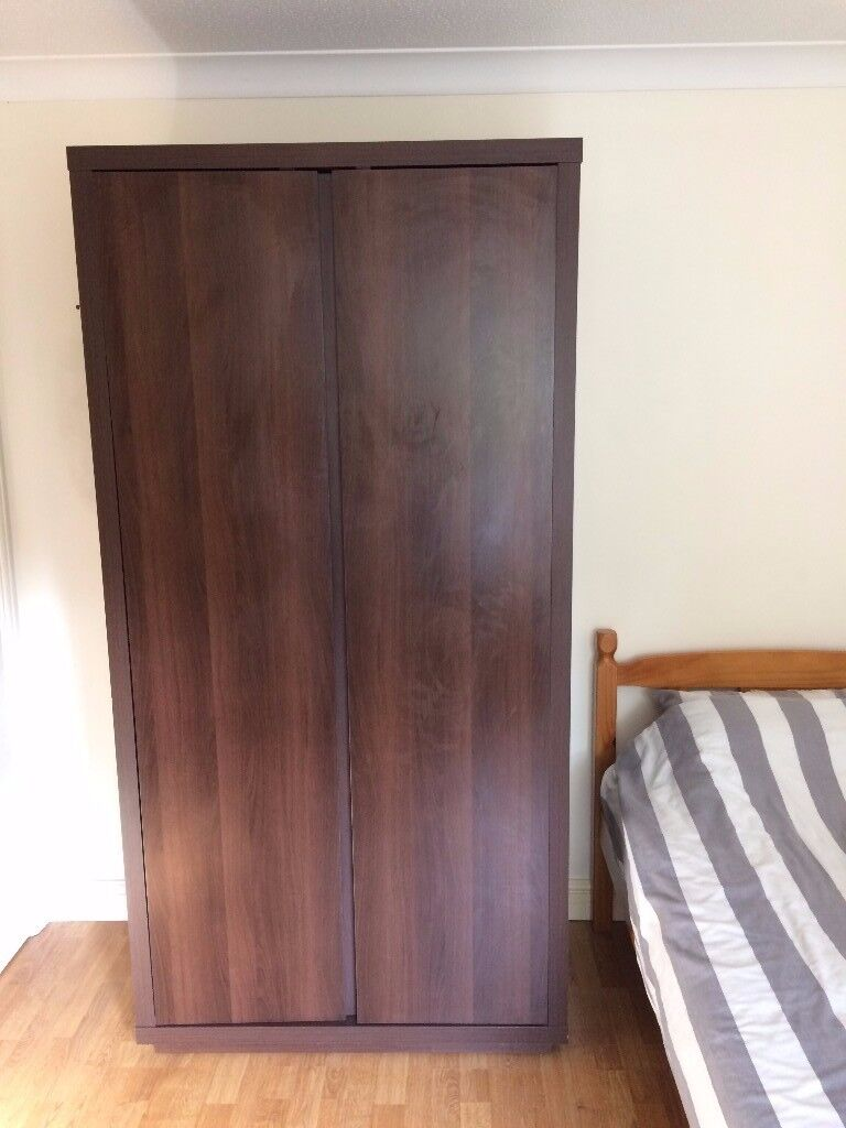 High Quality Double Wardrobe, Dark Wood Effect, Collection from Warrington