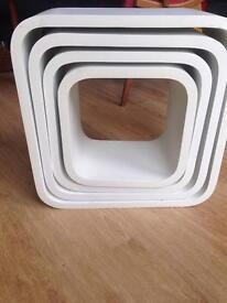 Stunning retro modular cube coffee side tables