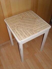 "Shabby Chic ""Music Sheet"" Coffee Table"