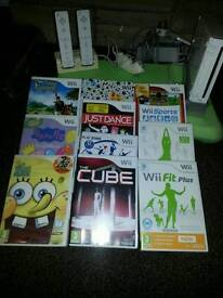 Wii with games excellent condition