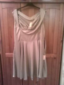 Lindy Bop Gold Coloured Dress