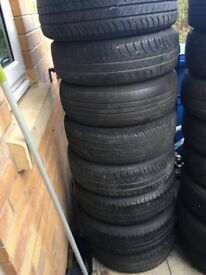 8 BMW Mini wheels with get you home tyres 175/65R15 4 stud steel wheels