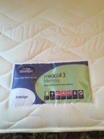 Memory Silent Night double bed mattress like new
