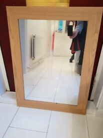 Mirror with wooden frame for sale £10