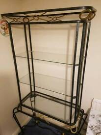 WROUGHT IRON & GLASS DISPLAY UNIT