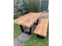 Rustic Dining Table and Bench
