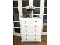 Pine Tallboy/Chest of Drawers Free Delivery Ldn shabby chic