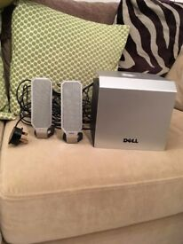 Dell subwoofer and two speakers
