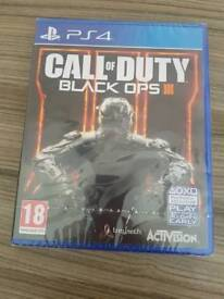 New and sealed call of duty black ops 3 on ps4