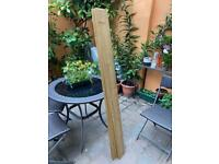 VTG Solid Wood Cladding boards 6 X (1500MM x 120MM X 12MM) V jointed Tongue and Groove