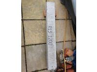 Concrete lintel R15 100 x 140 x 1120mm Reinforced Steel Bars