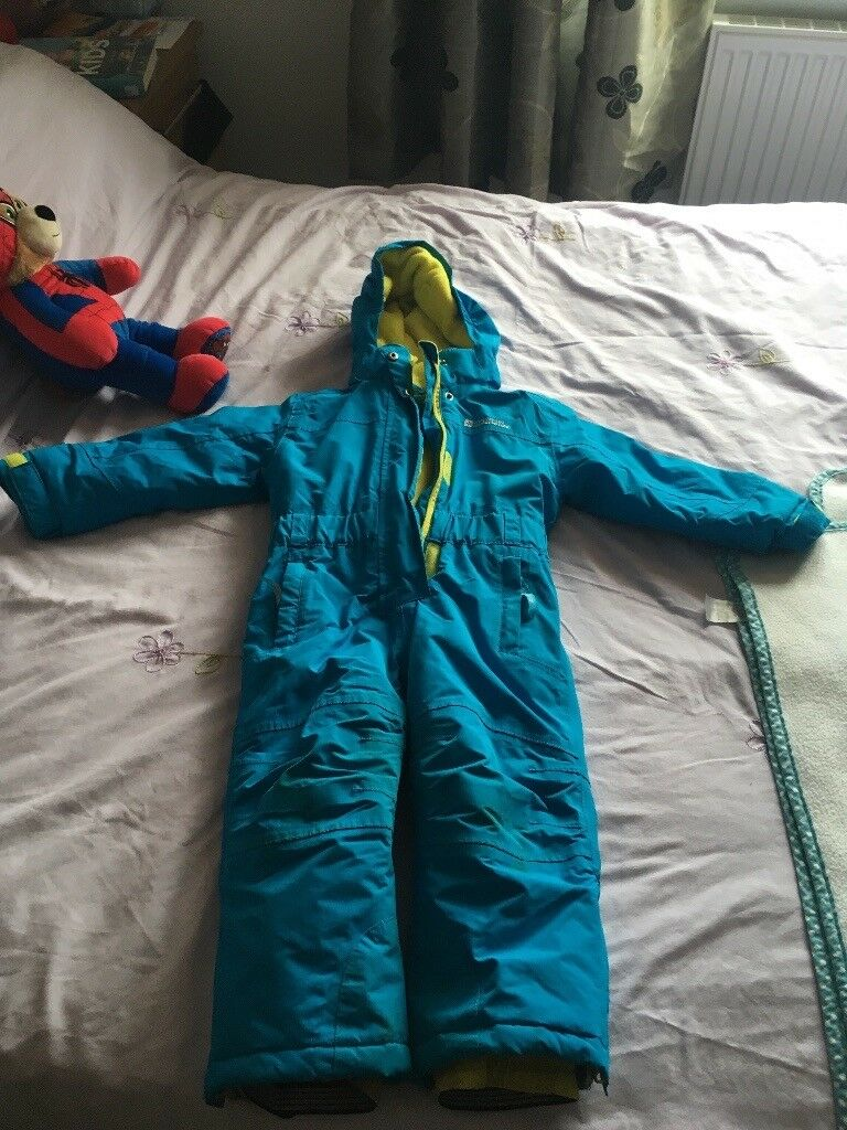 Mountain Warehouse blue/yellow snowsuit aged 2-3