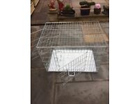 Medium to Large Silver Pet Cage