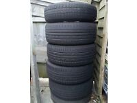 "Vauxhall Corsa 16"" 5 Spoke Alloy Wheels and Tyres + Spare"