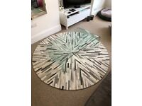 Modern glass curved coffee table