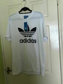 Adidas White Tshirt