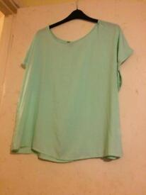 Mint Green Top Size 20
