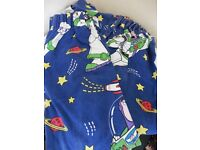 "Buzz Lightyear toy story curtains 52"" drop £5 collection from Shepshed."