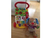 Vtech baby walker & Fisherprice Talking Teddy