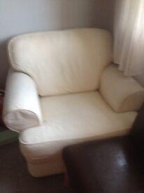 Cream large armchair