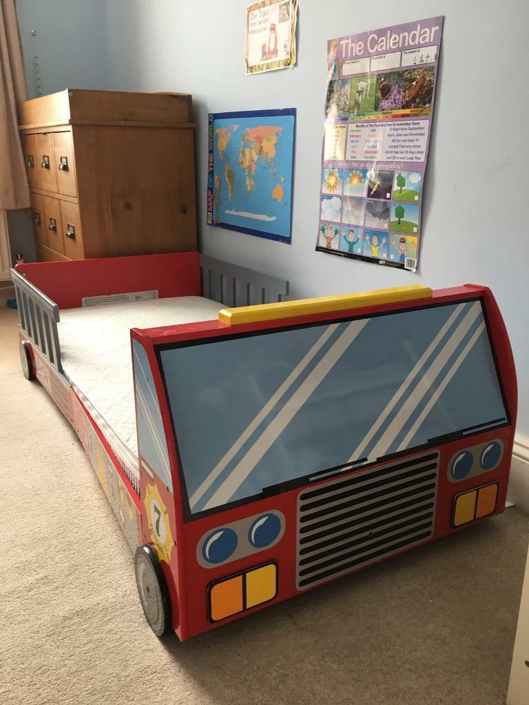 purchase cheap c7d54 6dd77 Kidkraft Fire Truck Toddler Bed including Mattress | in Brixton, London |  Gumtree