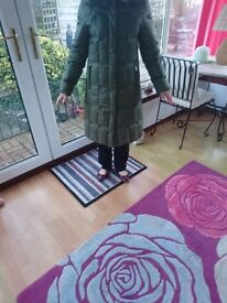 Quilted coat (Women's) size 12 Green
