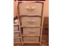 canvas drawers, cream £10 ONO