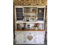 Shabby chic rustic kitchen dresser